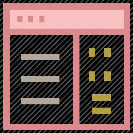 webpage format, website designing, website layout, website organizing, website template icon