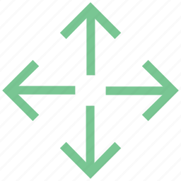 arrows, expand, increase, outward, spread icon