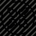 minimize, reduce, resize, arrows, arrow, navigation, direction