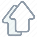 arrow up, arrows, upload, upload arrows, upward icon