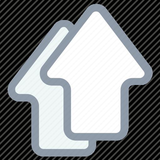 arrow up, arrows, upload, upload arrows, upward icon