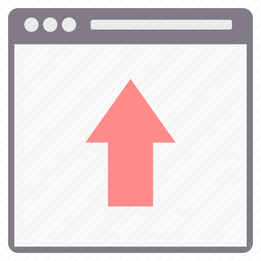arrow, direction, page, up, web icon