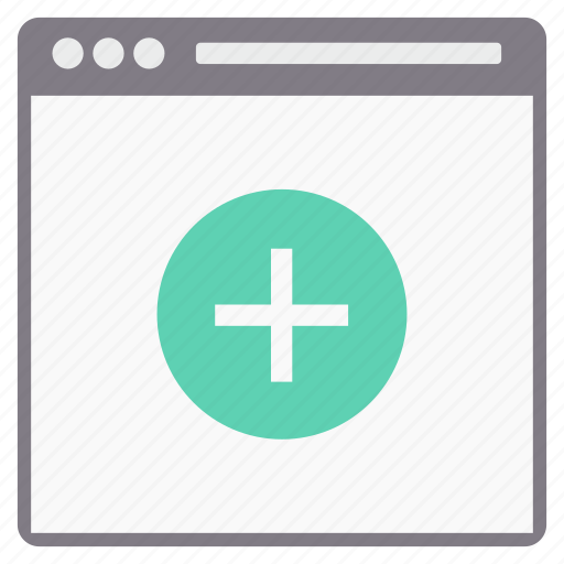 added, page, plus, web icon