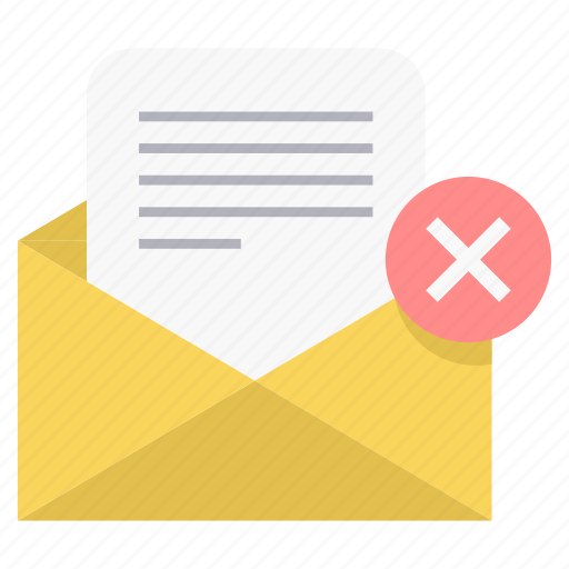 cancel, mail, text icon
