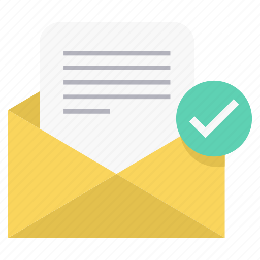 accepted, mail, read icon