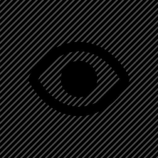 eye, interface, internet, user, web icon