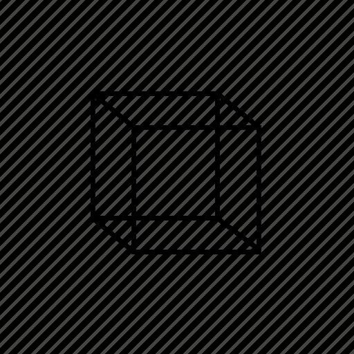 cube, line, multi, rectangle, square icon