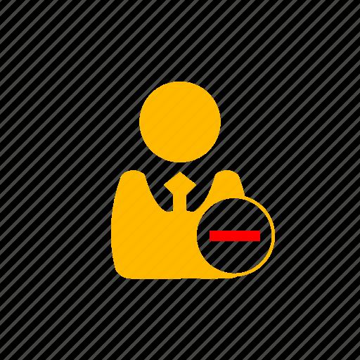 businessman, color, dashboard, delete, minus, remove, users icon