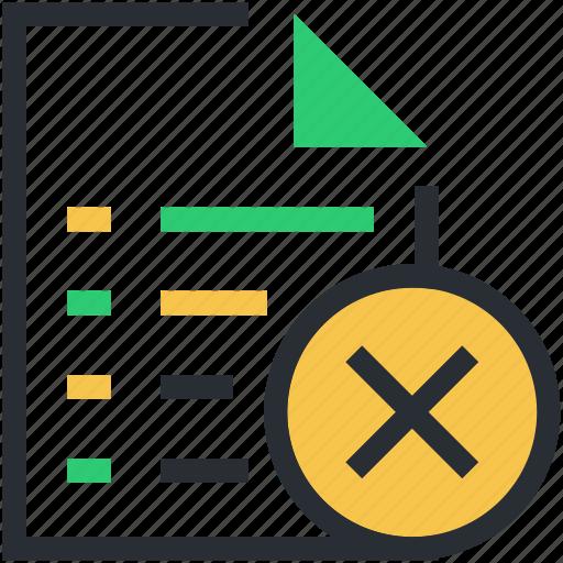 cross sign, file, file editing, remove extension file, remove file icon