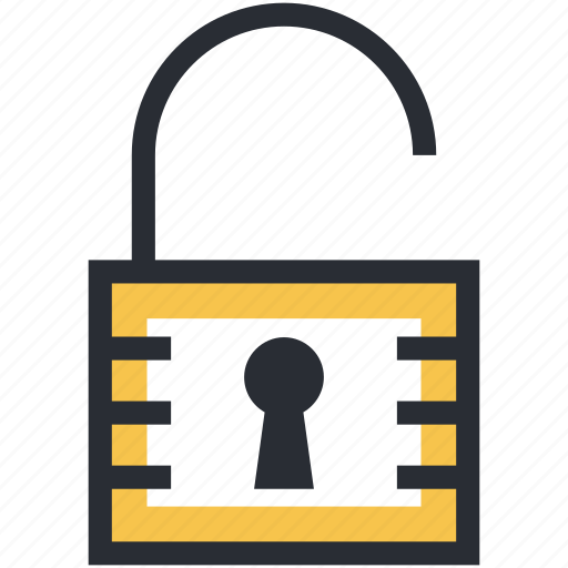 access, padlock, password, unlock, unlocked padlock icon