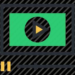 media, media player, player, video player, video streaming icon