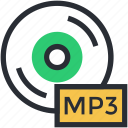 cd, compact disk, disk, mp3, mp3 disk icon
