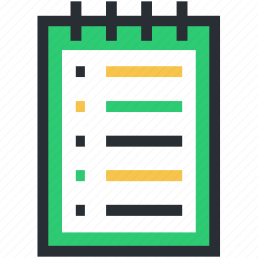 daybook, memo, note, notebook, stationery icon