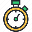 chronometer, clock, timekeeper, timepiece, watch icon
