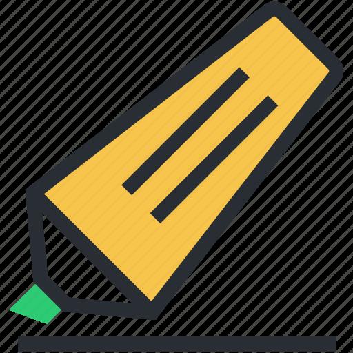 felt pen, highlighter, highlighter pen, marker, underline icon