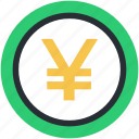 currency symbol, finance, japan currency, japanese yen, yen, yen symbol icon