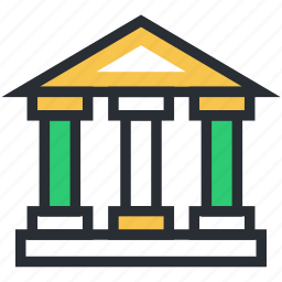 building, building columns, building front, pantheon, real estate icon