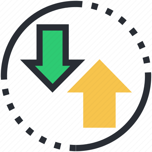 arrow, outbox, up and down, up arrow, upward arrow icon