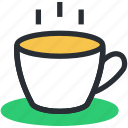 beverage, drink, hot coffee, hot tea, tea mug icon