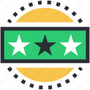ranking star, star ornament, stars, three star hotel, three stars icon