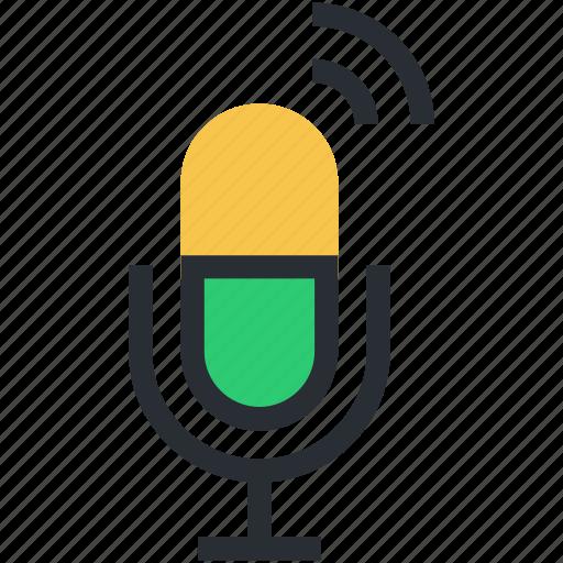 audio, loud, mic, microphone, recording mic icon