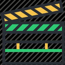 clapboard, clapper, clapper board, multimedia, time slate icon