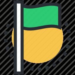 destination flag, ensign, flag, flag pole, table flag icon