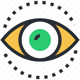 eye, eye focus, human eye, retina, view icon