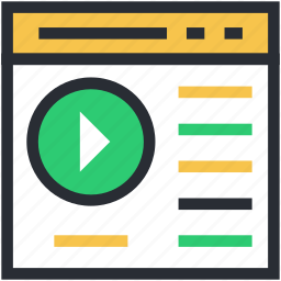 media player, movie player, multimedia, online video, video player icon