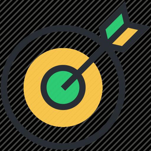 bullseye, crosshair, dartboard, goal, target icon