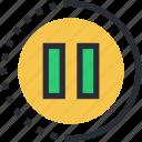 pause button, multimedia, media control, multimedia button, stop button