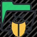 data virus, computer virus, folder, antivirus, bug