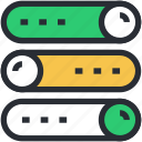 database, network server, server, server connection, web hosting icon