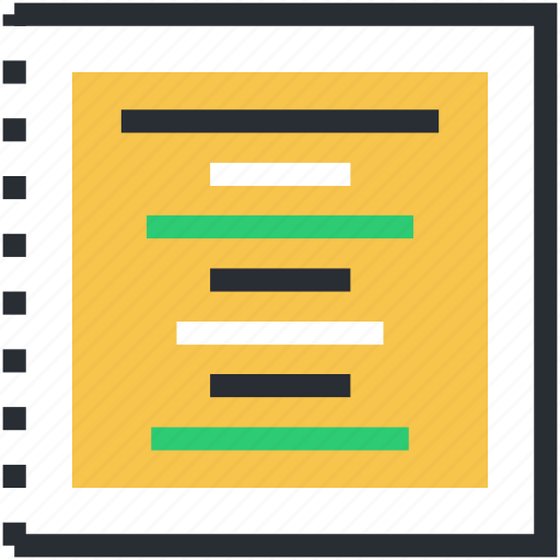 center alignment, center justification, document, text alignment, text lines icon