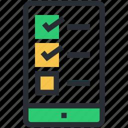 checklist app, mobile checklist, task list, task manager, to do list icon