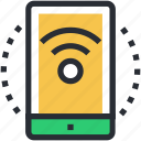 mobile, mobile internet, mobile wifi, wifi connection, wifi signals icon