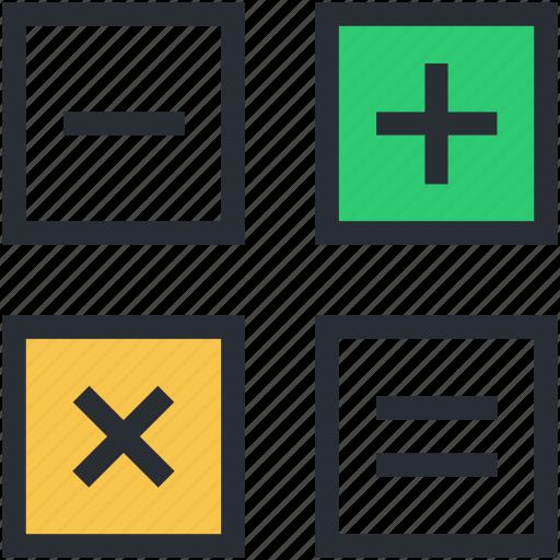 calculation, digital calculator, finance, math symbol, maths icon