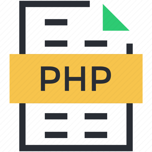 file design, file extension, file format, php file, storage icon
