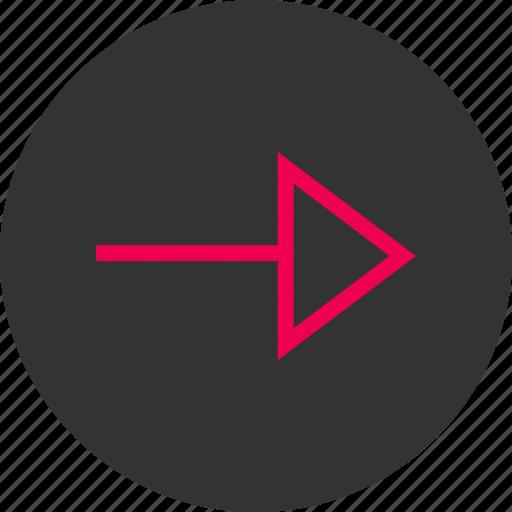 arrow, forward, menu, next, right icon