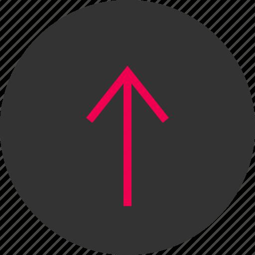 arrow, menu, point, pointer, up, upload icon