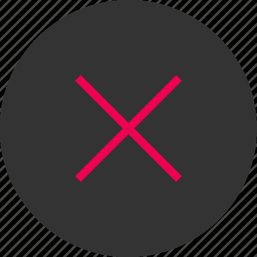 cross, delete, denied, menu, x icon