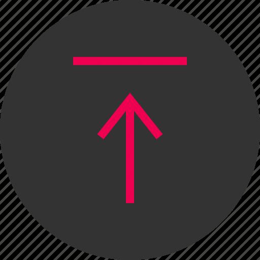 arrow, attachement, menu, point, up, upload icon