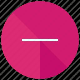 decrease, delete, interface, remove, ui, user icon