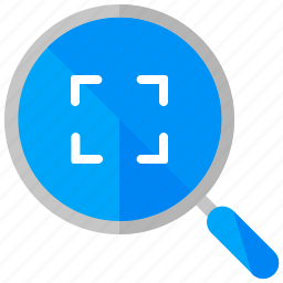 frame, interface, magnifier, ui, user, zoom icon