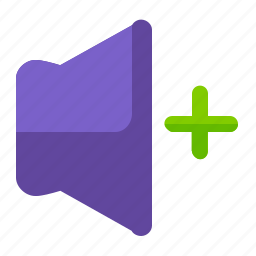 increase, interface, plus, ui, user, volume icon