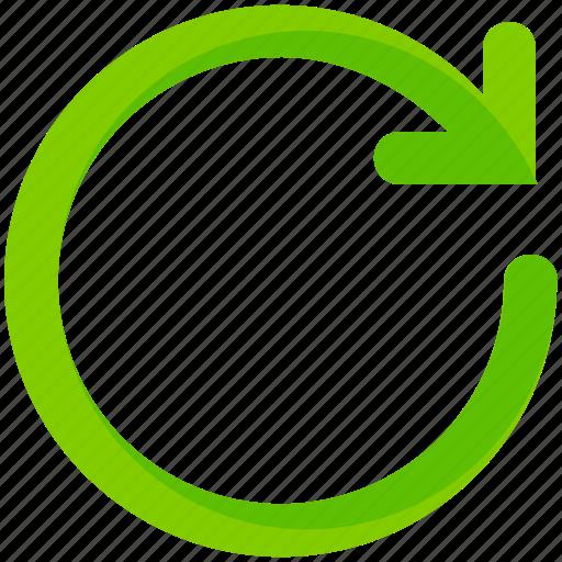 arrow, interface, refresh, rotate, ui, user icon