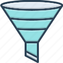 bottleneck, filtering, filtration, funnel, tool