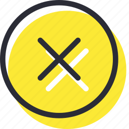 cancel, close, cross, delete, exit, remoce icon
