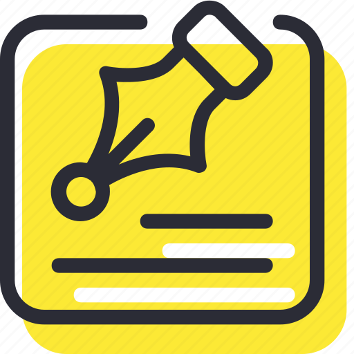 design, document, edit, note, pen, text, write icon