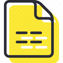 document, file, page, paper, text icon